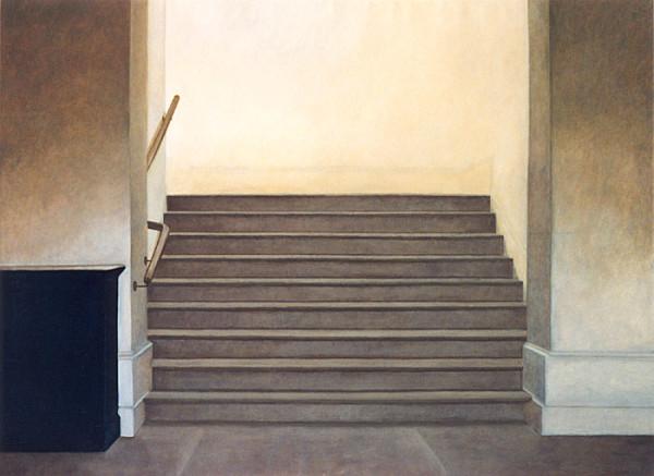 Trappan i Talbotstown. Olja, 125x92, 1998.